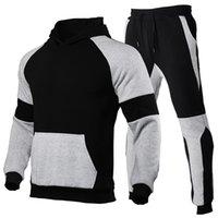 Men's Sets Hoodie+Pants Pieces 2021 Autumn Winter Casual Tracksuit Male Sportswear Gym Clothing Sweat Suit