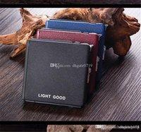 Custom metal cigarette Storage boxs Tobacco Storage Case Gift New Fashion square Cigar Cigarette Box With cigarette lighter