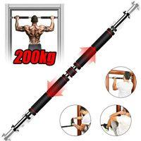 200kg Kapı Yatay Barlar 60-100 cm Çelik Ev Gym Egzersiz Spor Spor Fitness için Ayarlanabilir Eğitim Bar Ekipmanları 1282 Z2