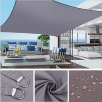 Tents And Shelters Squre Rectangle Summer Outdoor Waterproof Anti-UV Shade Canvas Oxford Cloth Sunscreen Rain Cover Garden Courtyard Awning