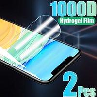 2Pcs Hydrogel Film For iPhone 12 13 11 Pro Max Screen Protectors fit iPhone X XR XS Soft Film Full Cover