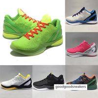 أسود مامبا السادس 6 جرين كرين الرياضة الرياضة ZK6 فكر في الوردي الأخضر ستيلرز أحذية رجالي كرة السلة أحذية يوم مدبب أحذية رياضية 40-46