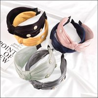 Headbands Jewelry Jewelry Fashion Women Hair Aessories Wide Side Pealrs Rhinestone Hairband Classic Solid Turban Autumn Headband Wholesale D