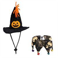 Cat Cosplay Costumes Fancy Dress, Dog Cat Witch Hat Bandana, Pet Halloween Bat ,Costume Outfit ,Cap Photo Props Headwear H0910