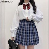 Joinyouth Preppy Style Style Donne Camicette a maniche lunghe Allentati Giapponese Bow Giardino Camicia da colletto Top in chiffon Camicetta Bianco Plus Size Donne Shi