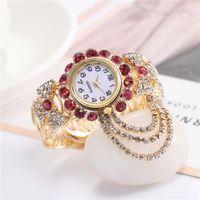 Мода кожа Перл кварцевые часы аналоговые ткать веревку цепи браслет часы для женщин платье часы сплава розовое золото с лодка якорь кулон