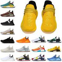 Pharrell Williams x adidas NMD Human Race Hu Trail الرجال النساء احذية الجري OG اافية البرتقالية Nmds سباقات أسود كريم أبيض Nerd العدائين أحذية رياضية المدربين مقاس 36-47  أحذية