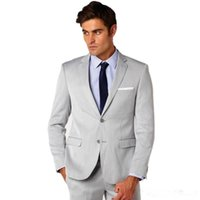 Men's Suits & Blazers Slim Fit Men Wedding Two Buttons Notched Lapel Groom Tuxedos (Jacket+Pants) Groomsmen Mens Custom Made Business