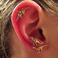 3Pairs / set dinossauro brincos de brincos de mulheres punk punk animal piercing brinco