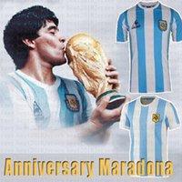 Versão Retro 86 78 1978 1986 Argentina Soccer Jersey