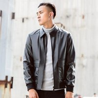 Men's Fur & Faux Young Fashion Leather Jacket Lapels Male Leisure PU