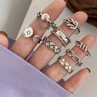 Índice de combinación de la industria pesada Anillo de dedo Femenino Sterling Silver Moda Personalidad Indiferencia Fengwang Niche Rojo