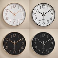 12 Inches Round Mute Digital Scale Wall Clock 3D Living Room Bedroom Walls Clocks Home Rooms Decor Hanging Punch ZXFTL1205