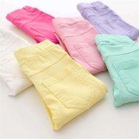 Leggings Tights Summer Girls Pants Elestic Waist Children Kids Jeans Candy Color Causal For legging 1566 B3