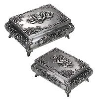Jewelry Pouches, Bags 28TF Vintage Metal Box Trinket Storage For Rings Earrings Small