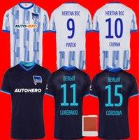 태국 품질 21 22 Hertha Berlin 축구 유니폼 홈 Piatek 멀리 블랙 2021 2022 Tousart Boyata Córdoba Lukebakio Serdar 축구 셔츠