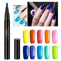 Uygun Jel Oje Kalem Üst Primer 3 olmadan 1 UV Boya Glitter Aracı