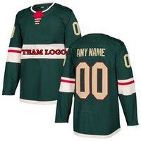 Custom Minnesota Hóquei Wild Kirill Kaprizov Uniforme Personalizado Camisa Equipe Nome Número Presentes Presentes Camisolas Para Homens 2021 DIY