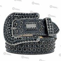 2021 Designer Belt Bb Simon Belts for Men Women Shiny diamond belt on Black Blue white multicolour