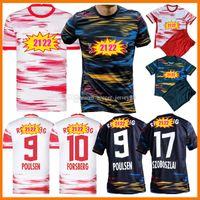 2021 2022 RB Futbol Formaları Ev Uzaktan 2021-22 Werner 2020-21 21 22 Hee-Chan Forsberg Halstenberg Sabitzer Poulsen Çocuk Kitleri Çocuk Üniformaları Futbol Gömlek Jersey