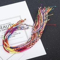 20Pcs Sets Colorful Rainbow Color Mix Braid Bracelets women girls Jewelry Gift DIY Charm Handmade Rope Bangles Random Color