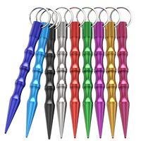 Vente en gros d'armes d'auto-défense en aluminium Sécurité pour femmes filles Spike Stick Stick Keychain Toux-lafre