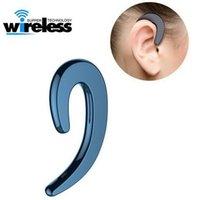 Kökeni Kablosuz Bluetooth Cep Telefonu Kulaklıklar Mini Kulak Telefonları Olmayan Kulak Tasarım Stereo Kulaklık Ses Hoparlör Kulaklıklar iPhone Samsung LG Nokia Huawei Xiaomi