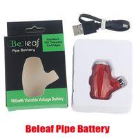 Authentic Beleaf Pipe Battery Smart Vape Pen Cartridge Adjustable 900mAh Preheating VV Vairable Batteries Voltage 510 Thread Smoke Vapor Box Mod Hot 100% Genuine