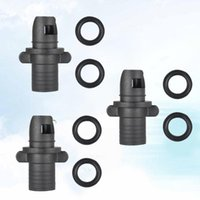 Bike Pumps 3Pcs Inflatable Pool Pump Adapter Bed Row Rowing Boat Air Adaptor Board Stand Paddle Kayak Surfing Accessory Black