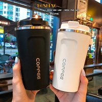 380 510ml Creative Coffee Mugs And Cups Fashion Stainless Steel Vacuum Insulated Tumbler Personalized Car Travel Mug With Lid