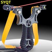 2021 Slingshirts Hars Laser Snelle Compressie Gratis Platte Rubber Band Clip Slingshot Outdoor Hunting Concurrerende Catapult Toy