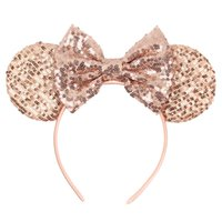 New Hot Selling Lovely Children's Accessories Girl Headband Sequined Bow Polka Dot Decorative Hair Tie