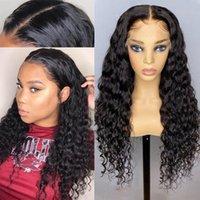 4x4 5x5 13x4 13x6 Wasserwelle HD Transparentes menschliches Haar Spitze Perücken Bleichmittel Knoten Prepucked Natural Hairline für schwarze Frauen