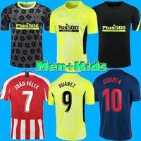 الرجال الاطفال كيت جواو فيليكس اتليتيكو مدريد لكرة القدم الفانيلة 2020 2021 ساول camisetas سواريز لوريس كوريا لكرة القدم قميص camisetas دي فوتبول