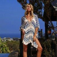 Негабаритные крючком пляжное платье покрытие на саронг кафтан пляж пляж туника Plage купальный костюм обложка Pareo Beach Bikini Cover UP # Q776 210406