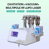 2021 portable 6 in 1 cavitation rf vacuum 40k ultrasonic slimming massager whose body spa use machine