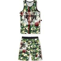 Basketball uniform suit custom student camouflage basketball uniform game training team uniform grass field fighting sports back