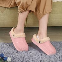 Slippers Size 31-44 Men Women Plush Warm Comfortable Indoor Home Flat Casual Shoes Unisex Couples Winter Waterproof Cotton