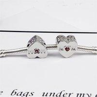Rosa Cubic Zirkon Openwork Mom Charm Perlen Fit Pandora Charme Armband Modeschmuck Großhandel Zubehör 864 R2