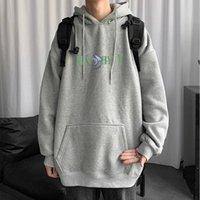 남자의 후드 스웨터 봄과 가을 기간 원래 얇은 섹션 후드 양털 남성 청소년 로고 인쇄 커플 까마귀 pers