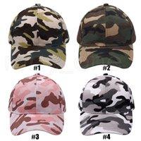 위장 야구 모자 야외 스포츠 씻어 공 모자 패션 선 스크린 축제 파티 모자 공급 4styles rra4260