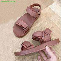Sandals Bonjean Luxury Canvas Shoes Desinger Slipper Brand Summer Flat Women's Sandal Casual Slides Outdoor Female Flip Flops 2021