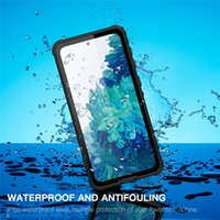 IP68 Waterproof Clear Shell for Samsung S21 Plus Lanyard Strap Snowproof Hybrid Rugged Armor Cover Sports Outdoor Full Protective Dropproof Phone Case