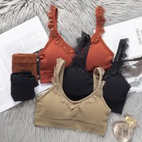 Fashion Comfortable Women Bra And Panties Set Wire Free Bralette Sexy Lingerie Lace Strap Sports Underwear Bras Sets