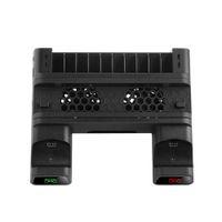 2021 Radiador para PS4 Pro PS4Slim Console Chargers Vertical Refrigeração Controlador de Refrigeração Base de carregamento 2 Refrigerador 10 Jogos Armazenamento Sony PlayStation 4