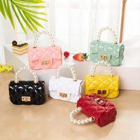 HBP 2021 designer trend women handbags summer and autumn new Korean version fresh sweet ladies pearl hand jelly bag shoulder diagonal bag
