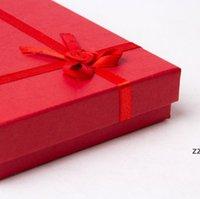 هدية التفاف مجوهرات مربع التعبئة والتغليف مربعات قلادة الإبداعية مع فراشة عقدة القرط قلادة حالة الحجم 12 * 16 * 3 سنتيمتر HWD8275