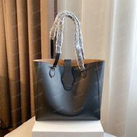 Sacs à main de luxe de luxe Moyenne Strap Double Strap Femme Sacs Shopping Sac à bandoulière en cuir Black Brown Blanc