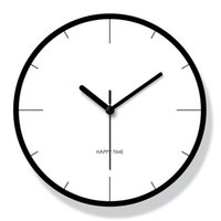 Wall Clocks Classic Creative Clock Silent Glass White Bedroom Kitchen Mechanism Nordic Design Reloj Pared Home Decoration BE50WC