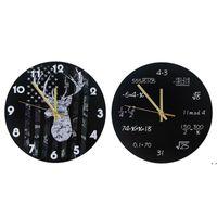 الصناعية الحديثة ساعة الحائط الفن الأمريكية شخصية غرفة المعيشة الساعات الرئيسية مكتب المدرسة خمر ديكور OWD6220